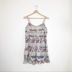 AEO Boho A-Line Paisley Sweetheart Babydoll Dress